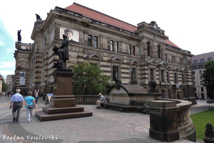 10. Gottfried Semper statue & Albertinum