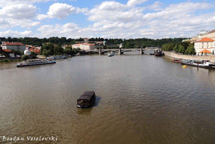 16. Vltava & Mánesův Bridge (Mánesův most)
