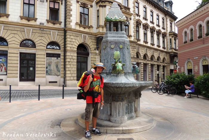 17. Zsolnay fountain