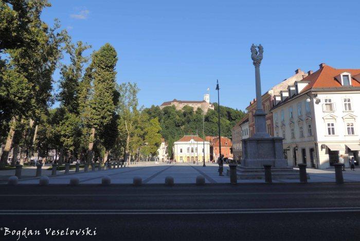 19. Congress Square - Holy Trinity Column & Ljubljana Castle (Kongresni trg - Trojice & (Ljubljanski grad)