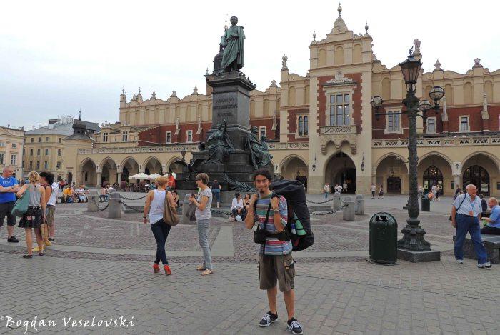24. Main Square - Adam Mickiewicz Monument & Cloth Hall (Rynek Główny - pomnik Adama Mickiewicza & Sukiennice)