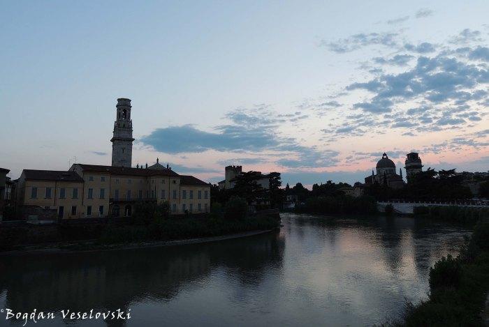 28. Adige river, Verona Cathdral & Church of San Giorgio in Braida