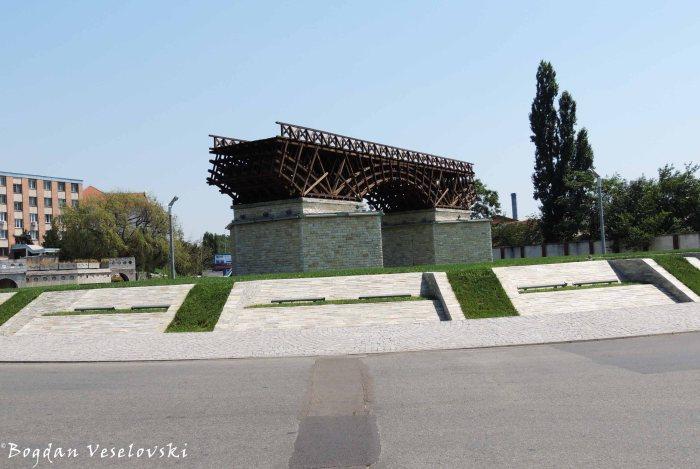 Replica of Trajan's Bridge in Drobeta-Turnu Severin