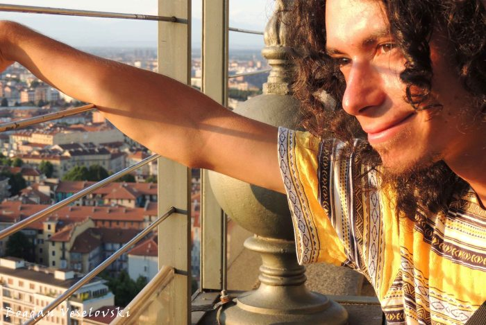 08. Admiring the city view from Mole Antonelliana tower
