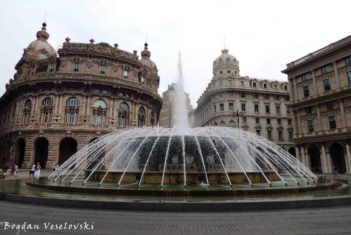 08. Piazza De Ferrari -Palazzo della Nuova Borsa, Palazzo del Credito Italiano & Palazzo della Società Italia di Navigazione