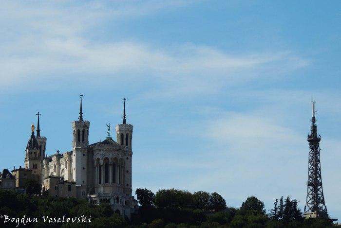 10. Basilica of Notre-Dame de Fourvière & Metallic tower of Fourvière(Basilique de Fourvière & Tour métallique de Fourvière)