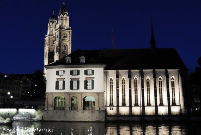 10. Grossmünster and Wasserkirche with Helmhaus
