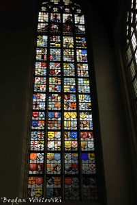 10. Stained glass in the Old Church (Oude Kerk)