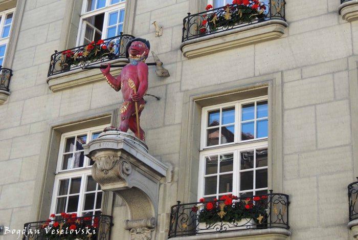 11. House mark of the Guild Society to the Monkey on Kramgasse 5(Hauszeichen der Zunftgesellschaft zum Affen an der Kramgasse 5)