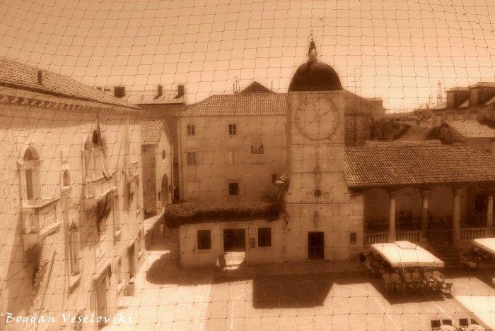 12. John Paul II Square - Town Hall & St. Sebastian's Church (Town Clock Tower & Town loggia)