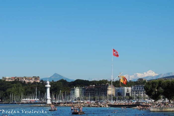 14. Port of Geneva, Le Môle & Mont Blanc