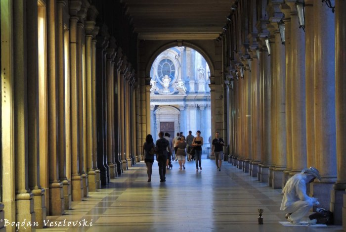 15. Portico towards Church of San Carlo