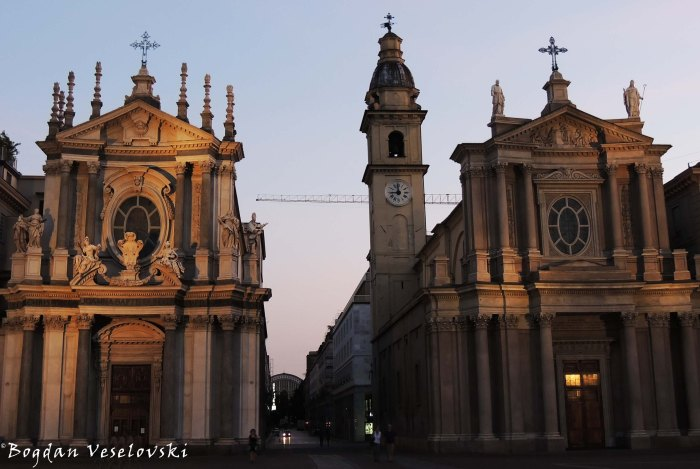 17. The twin churches of San Carlo and Santa Cristina