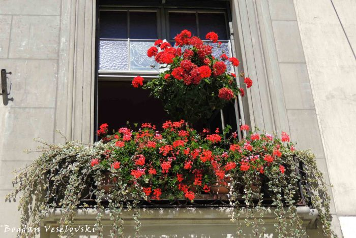 18. Flowered balcony