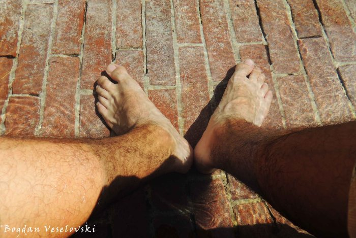 18. White feet