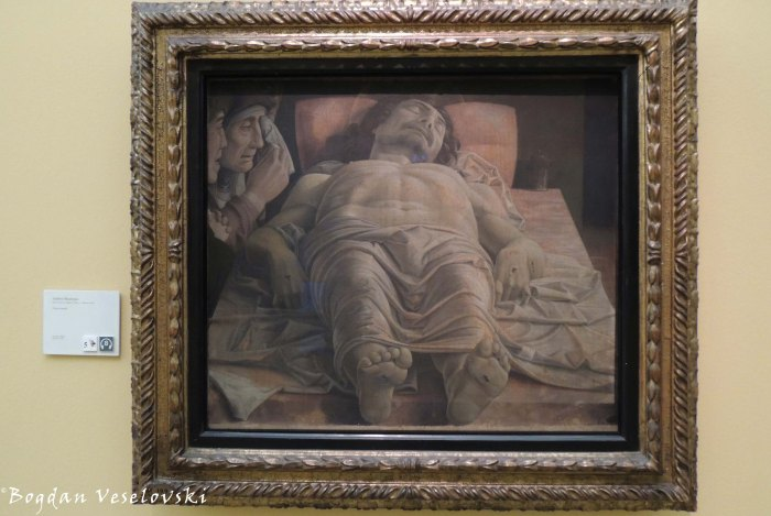 27. Pinacoteca di Brera - 'Lamentation over the Dead Christ' by Andrea Mantegna