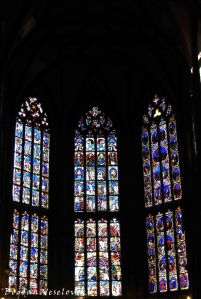 32. Stained glass - Bible scenes, Passion/Ten thousand martyrs and Christ windows in the Choir, Bern Minster (Berner Münster)