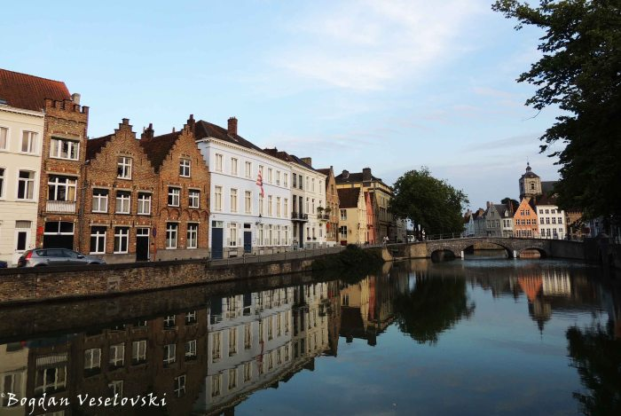 40. Houses on the Potterierei & Tower of St. Walburga Church (Sint-Walburgakerk)