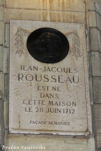 40. Memorial plaque - Jean-Jacques Rousseau