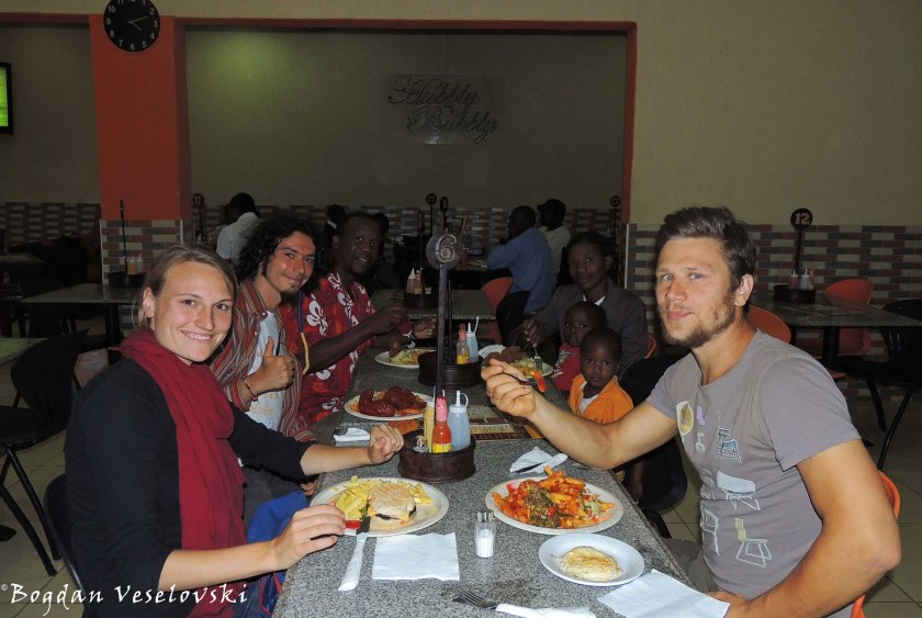 Lunch with January's family, Inga & Marek
