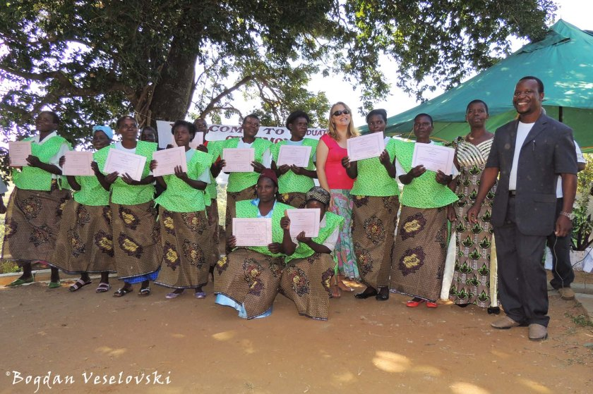 Graduation ceremony for tailoring workshop