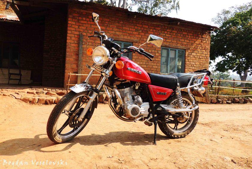 Motorbike - main transport in Chididi
