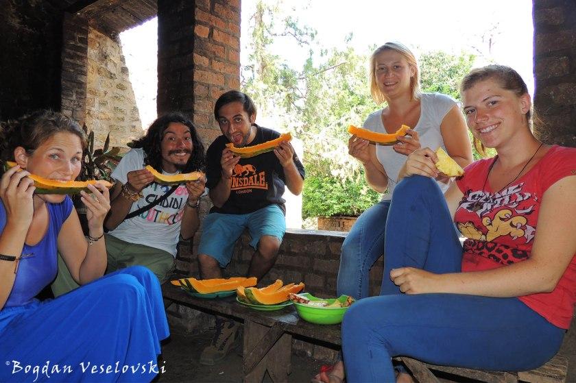 Papaya with new volunteers