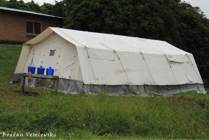 Quarantine tent for cholera