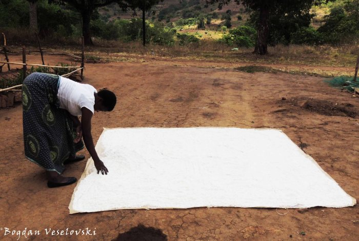 Drying flour