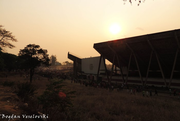 Kamuzu Stadium on sunset