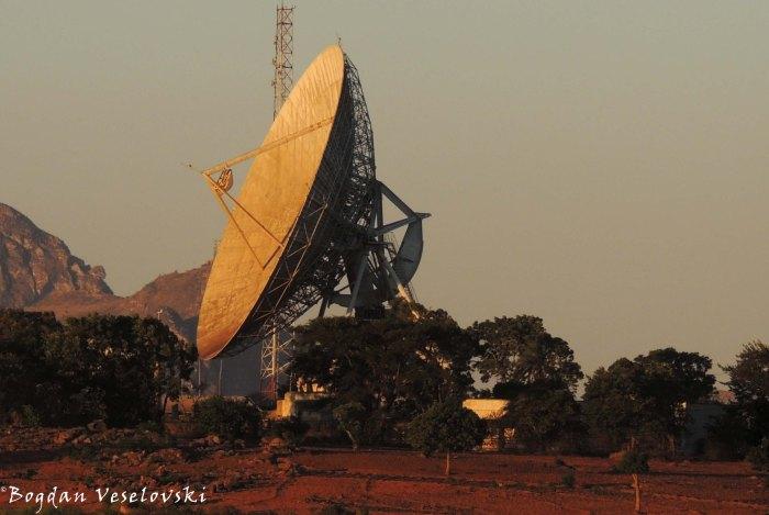 Parabolic antenna in Soche hill, Limbe