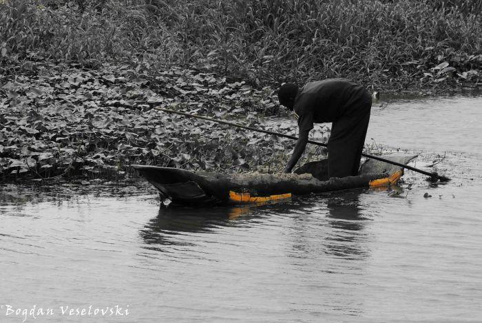 Sailing a canoe