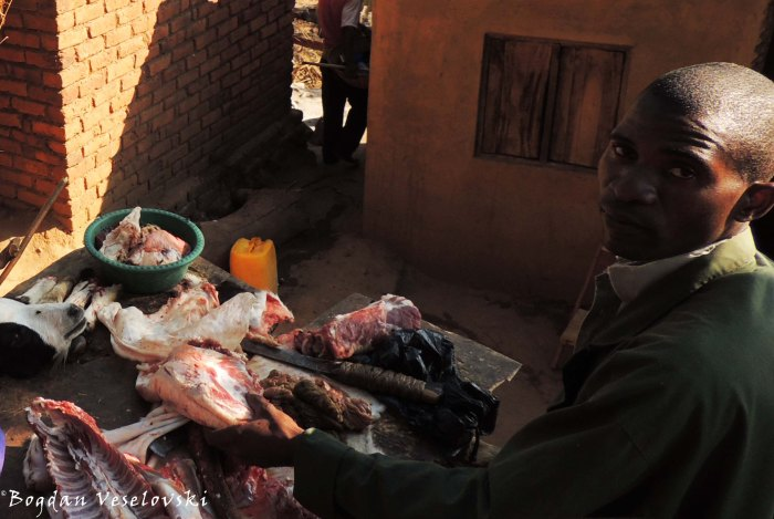 Selling goat meat