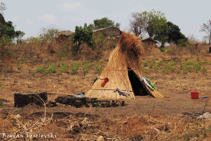 Straw hut in Mkhutche (MOZ)