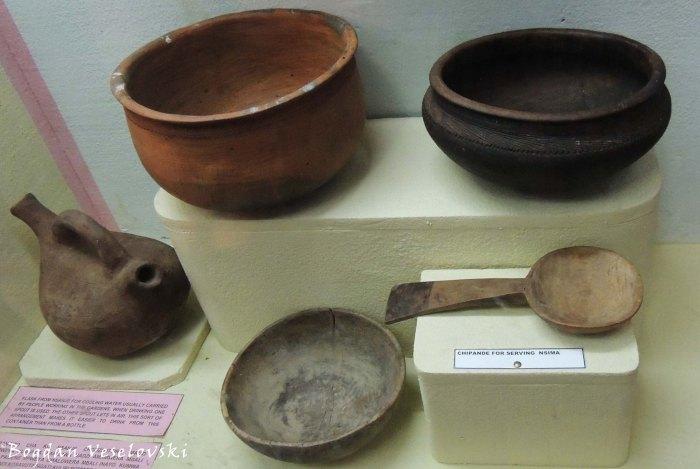 Zipangizo za pa banja (domestic appliances in Blantyre Museum)
