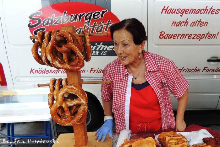 Salzburg pretzel (brezel)