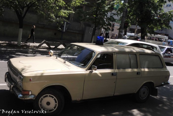 Old-fashioned ambulance
