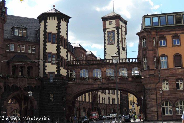St Paul's Square - 'Sigh bridge' of Frankfurt, 'Little Cohn' Tower & 'Big Franz' Tower (Paulsplatz - 'Seufzerbrücke', 'Kleiner Cohn' Turm & 'Langer Franz' Turm)