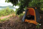 Wild camping in Lake Malawi National Park (Cape Maclear)