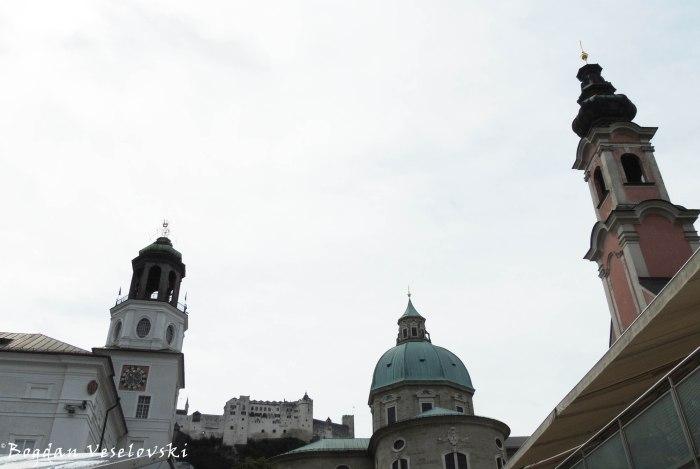 Glockenspiel, Hohensalzburg Castle, Salzburg Cathedral & St. Michael's Church (Glockenspiel, Festung Hohensalzburg, Salzburger Dom & Michaelskirche)