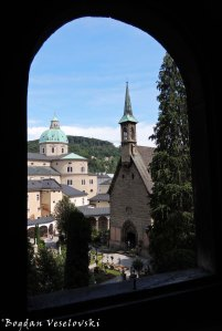 Salzburg Cathedral & Margaret Chapel - view from Catacombs (Margarethenkapelle & Salzburger Dom)