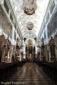 Interior of St Peter's Abbey (Stift Sankt Peter)