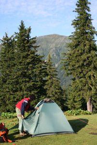 Camping near Bârcaciu Hut