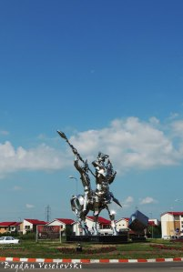 Homage - Don Quixote monument in Buzau by Bogdan Adrian Lefter