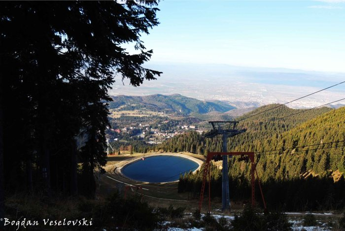 View of the dam and Poiana Brasov