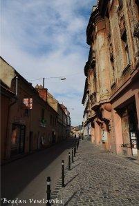 Michael Weiss Street in Brașov