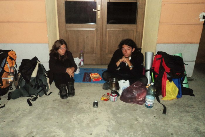 Night supper in the station