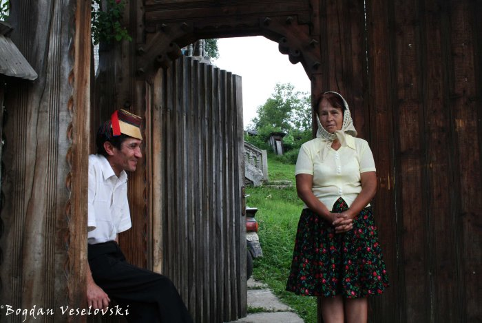 Couple wearing traditional clothes in Maramureș