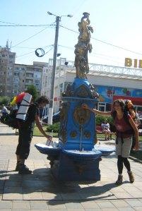 Fountain in Hațeg