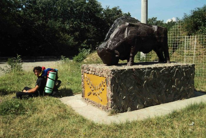 Monument of a bison